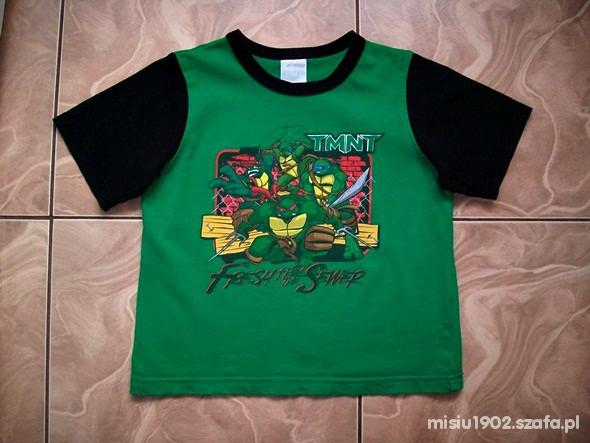 Koszulki, podkoszulki GEORGE 104 FAJNA KOSZULKA ŻÓŁWIE NINJA 4 5 LAT
