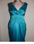 Sukienka zip turkusowa roz 42