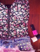 floral gorset zip na lato