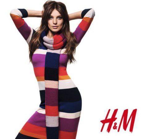 H&M GET WARM sukienka Anja Rubik