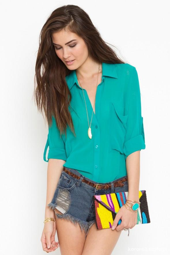 zielona aksamitna koszula
