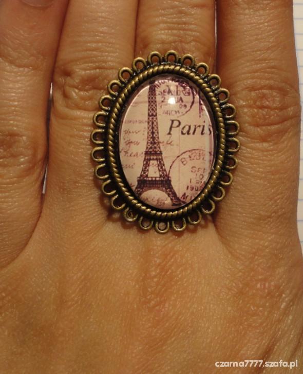 PIERŚCIONEK KAMEA PARIS stare złoto