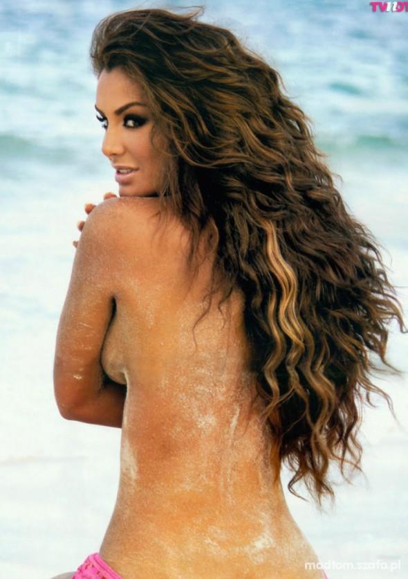 Długie kręcone włosy...