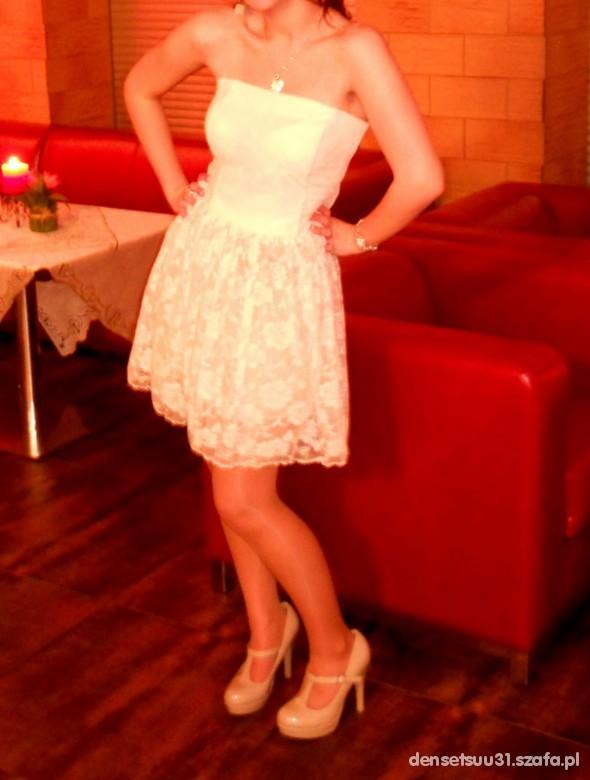 Wieczorowe koronkowa sukienka