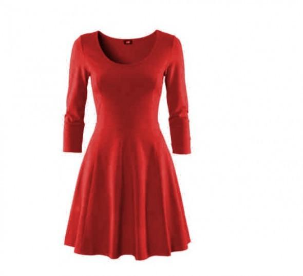 9e467858e6 czerwona rozkloszowa sukienka hm w Suknie i sukienki - Szafa.pl