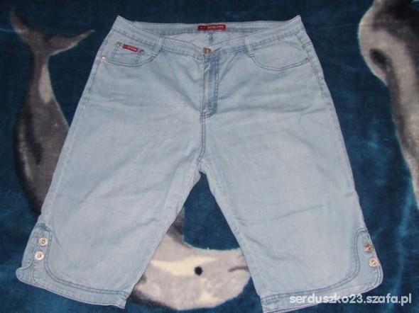 Spodnie rybaczki jeans niebieskie