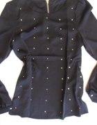 Bluzka czarna z napami symilki S M