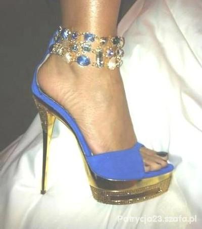 Śliczne kobaltowe biżuteryjne szpile