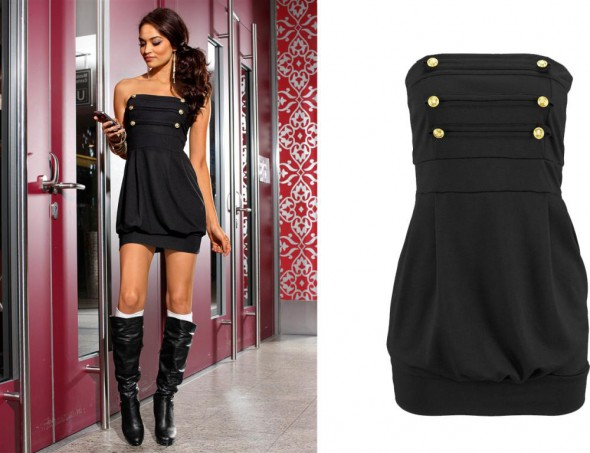 Czarna sukienka MELROSE Poszukiwana