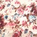 wiosenna chusta w kwiaty nude frędzle floral