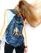 jeansowy plecak panterka romwe