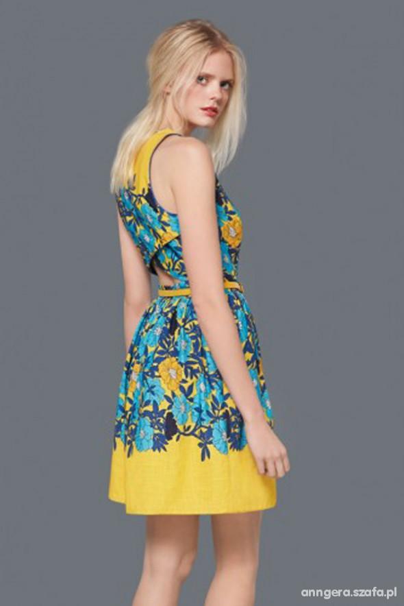 Romantyczne żółta sukienka