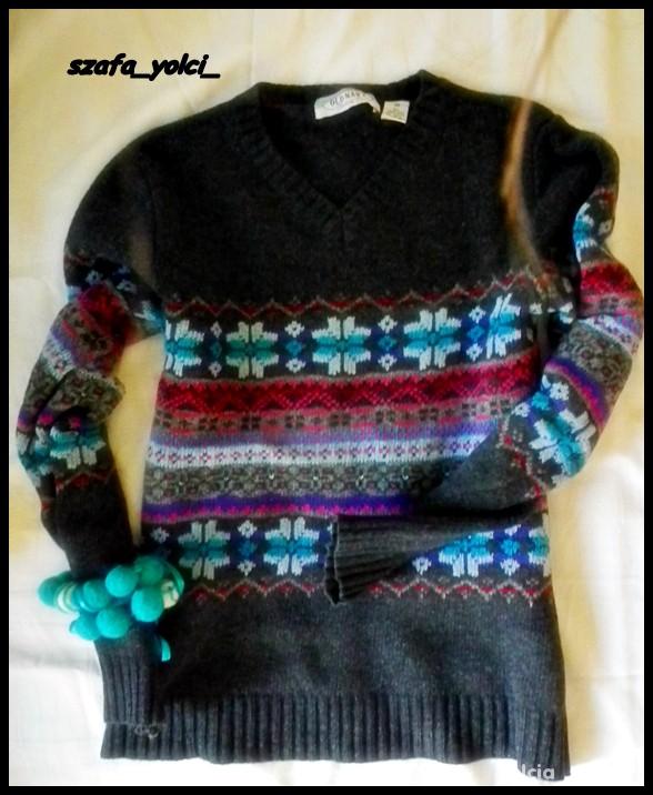 Sweterek wzory norweskie