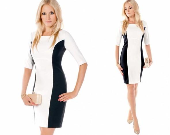 2a78006d2a Biało czarna geometryczna sukienka XS S M w Suknie i sukienki - Szafa.pl