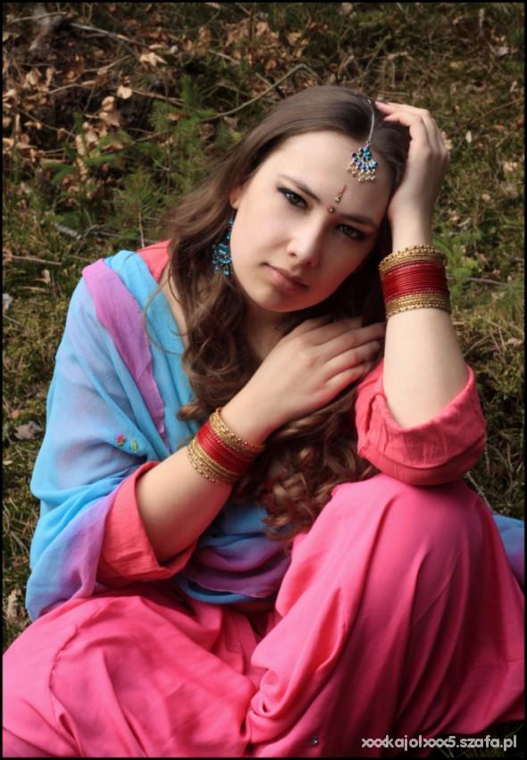 Mój styl Salwar choli i dupatta
