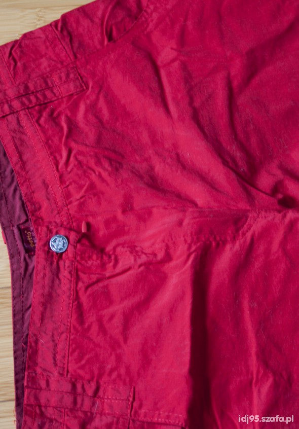 Zimowe spodnie ortalionowe ocieplane narciarskie