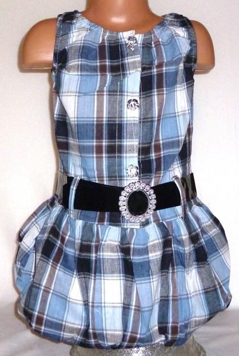 Sukienki i spódniczki Śliczna sukienka tunika w kratę rozmiar 116