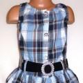 Śliczna sukienka tunika w kratę rozmiar 116