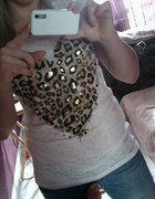 T shirt z panterkowym sercem...