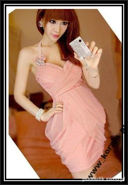 Różowa sukienka na wesele Japan Style