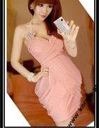 Różowa sukienka na wesele Japan Style...