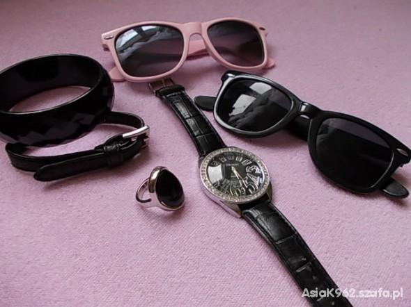 Pozostałe zestaw okulary zegarek bransoletka pierścionek