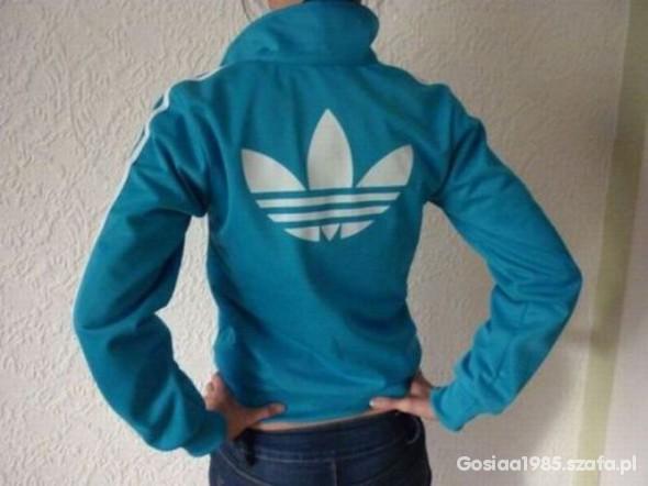 Bluza adidas adcicolor morski turkus w Bluzy Szafa.pl