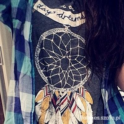 Ubrania szara bluzka z łapaczem snów H&M