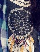 szara bluzka z łapaczem snów H&M