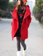 Czerwony płaszczyk rozmiar L