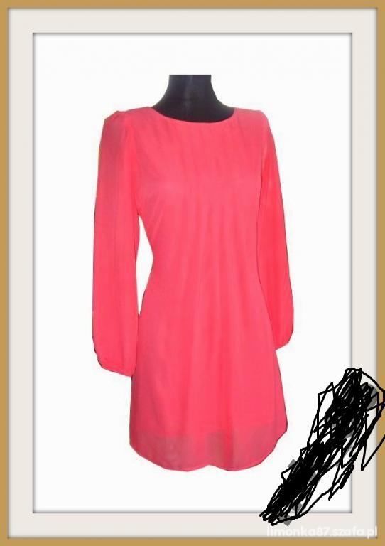 Eleganckie sukienka koralowa 666
