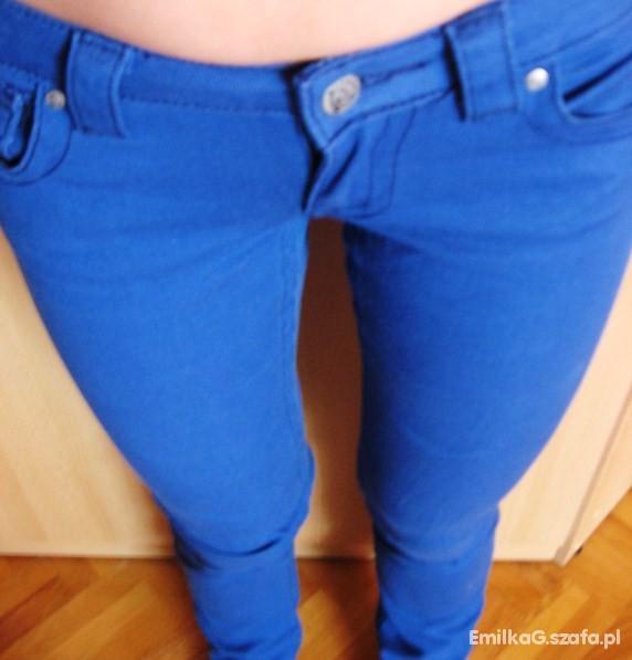 Spodnie M no name NOWE niebieski rurki