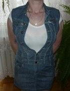 Jeansowa tuniko sukienka
