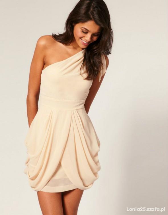 Poszukiwane Sukienka na jedno ramię