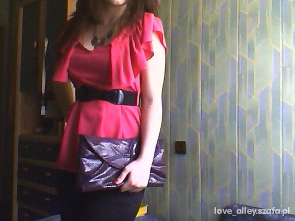 Mój styl falbany H&M i kopertówka