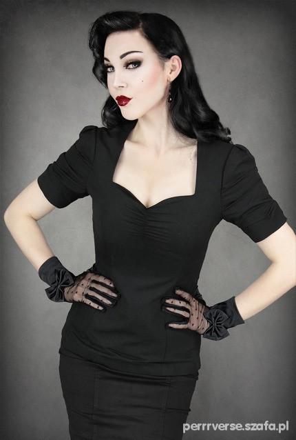 f56599e7d9 PIN UP czarna sukienka 36 dekolt serce w Suknie i sukienki - Szafa.pl