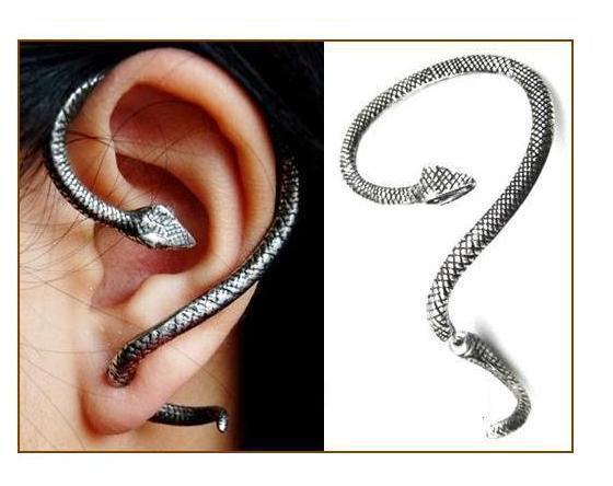 Kolczyki nausznica wąż