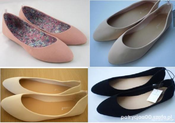 Balerinki klasyczne różne kolory...