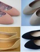 Balerinki klasyczne różne kolory