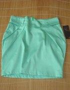 nowa miętowa spódniczka seledynowa spódnica