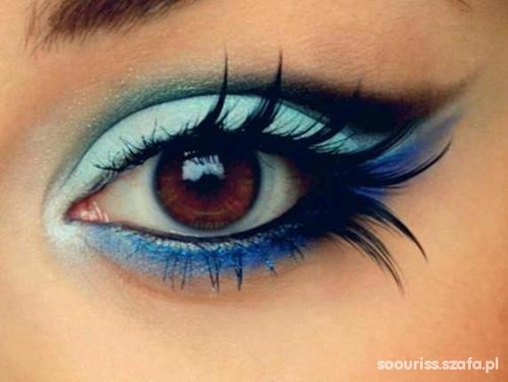 Oczy Cudny makijaż