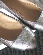 balerinki srebrzysto czekoladowe