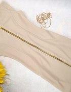 Sukienka złoty zamek S NOWA