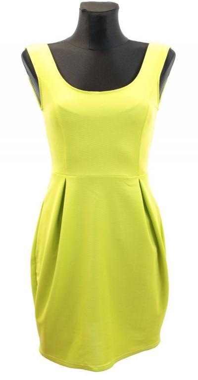 Sukienka limonkowa rozm M