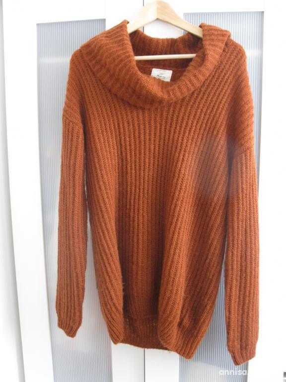 Wyprzedaż rudy sweter new look