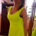 Neonowa żółta super sukienka