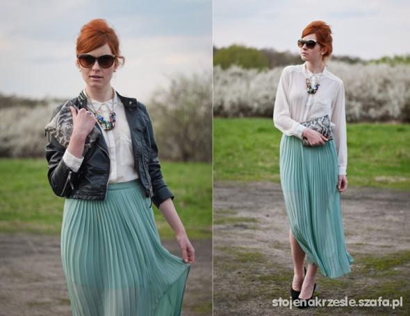 Mój styl Mint Maxi Skirt