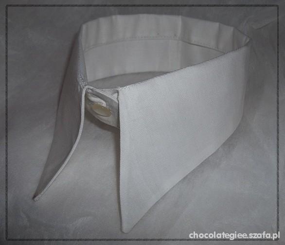 Pozostałe Kołnierzyk vintage retro biały szpic