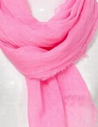 Neon pink scarf...