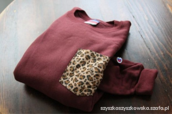 t shirt leopard pocket